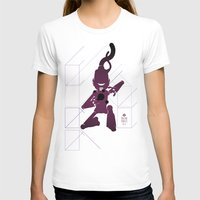 CHAM.AN.DROID Womens Fitted Tee White SMALL