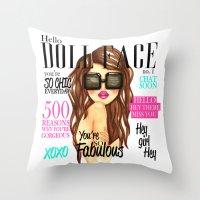Doll Face Throw Pillow