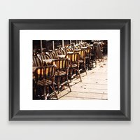 Cafe Light Framed Art Print