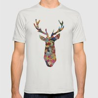 The Stag Mens Fitted Tee Silver SMALL