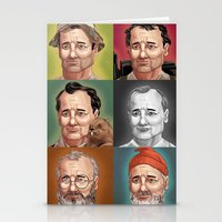 bill murray Stationery Cards featuring Bill Murray by Dave Collinson