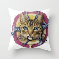 Sourpuss | Collage Throw Pillow