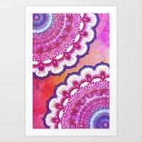 Colorful Watercolor Mand… Art Print