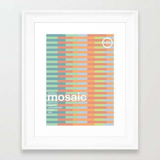 mosaic single hop Framed Art Print