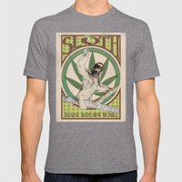 Sloth Mens Fitted Tee Tri-Grey SMALL
