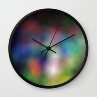 RainbowBlur Wall Clock