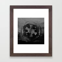 Star Wars Imperial Tie Fighters in Gray Framed Art Print