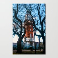 Building with Clock in Buenos Aires Canvas Print