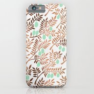 iPhone & iPod Case featuring Olive Branches – Rose … by Cat Coquillette
