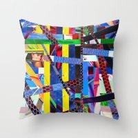 Bruce (stripes 13) Throw Pillow