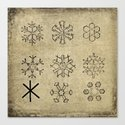 VINTAGE SNOWFLAKES DIAGRAM Canvas Print