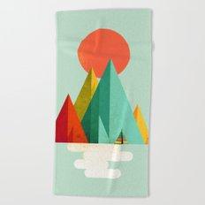 Little Geometric Tipi Beach Towel