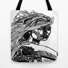 B&W Fashion Illustration - Wilko Johnson Tote Bag