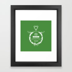 Merry Christmas - Green Framed Art Print