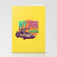 My Other Car Is A Delorean  |  Time Machine Stationery Cards
