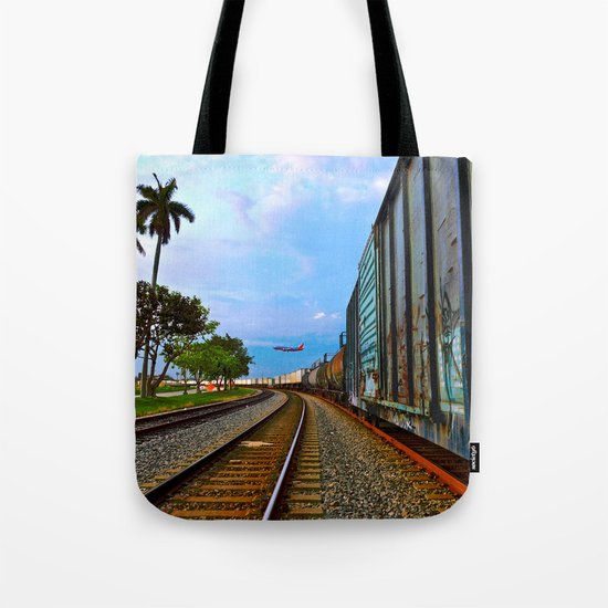 Planes, Trains, but no Automoblies Tote Bag