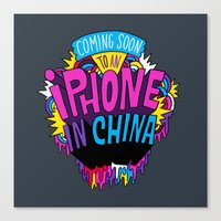 Coming Soon to an iPhone in China! Canvas Print