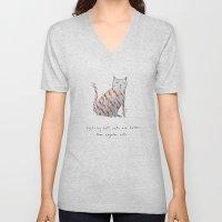Lightning Bolt Cats Are … Unisex V-Neck