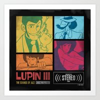 Lupin III Jazz Record Art Print