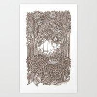 Strawberry Swing Art Print