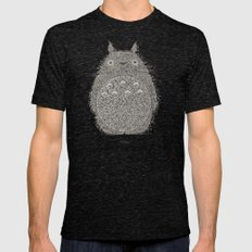 Green Totoro Mens Fitted Tee Tri-Black SMALL