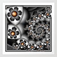 Orange Fan. Art Print