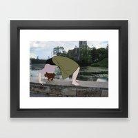 Backbend Framed Art Print