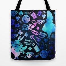 Alice in Wonderland - Galaxy Tote Bag