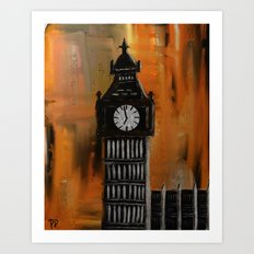 Rustic Big Ben Art Print