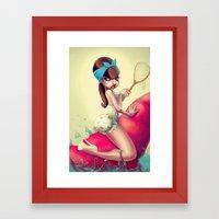 Lobster Back Ride Framed Art Print
