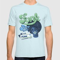 FUNK - ALWAYS KEEPS ME SMILING Mens Fitted Tee Light Blue SMALL