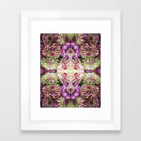 Dark floral Framed Art Print