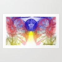 Spirited Fractal Art Print