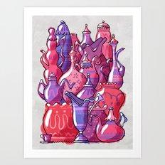 Porcelain Playground Art Print