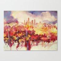 Vineyard At San Gimignan… Canvas Print
