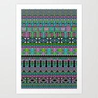 aztec Art Prints featuring Aztec by Fimbis