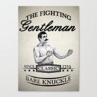 The Fighting Gentlemen Canvas Print
