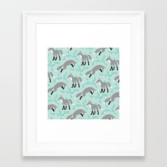 Socks the Fox - Dusk Framed Art Print