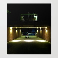 Skater Claims Strange New Location At Night Canvas Print