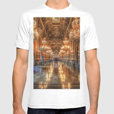 Opera House Mens Fitted Tee SMALL White