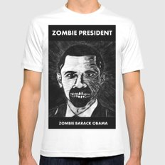 44. Zombie Barack Obama  White SMALL Mens Fitted Tee