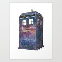 Doctor Who Galaxy Tardis Art Print