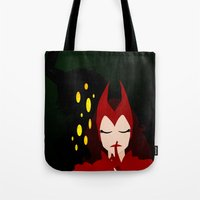 Mischief from Shadows (Lady Loki as Scarlet Witch) Tote Bag