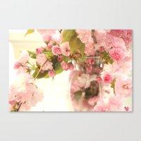 Dreamy Pink Apple Blosso… Canvas Print