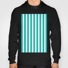 Vertical Stripes (Tiffany Blue/White) Hoody