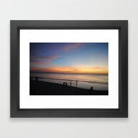 Playing in the sunset Framed Art Print