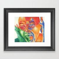 Scream With Your Eyes Framed Art Print