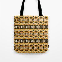 Montana Stripe - Gold Tote Bag
