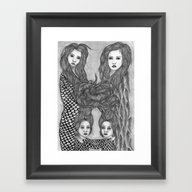 Framed Art Print featuring Us And Them by Samantha Dolan