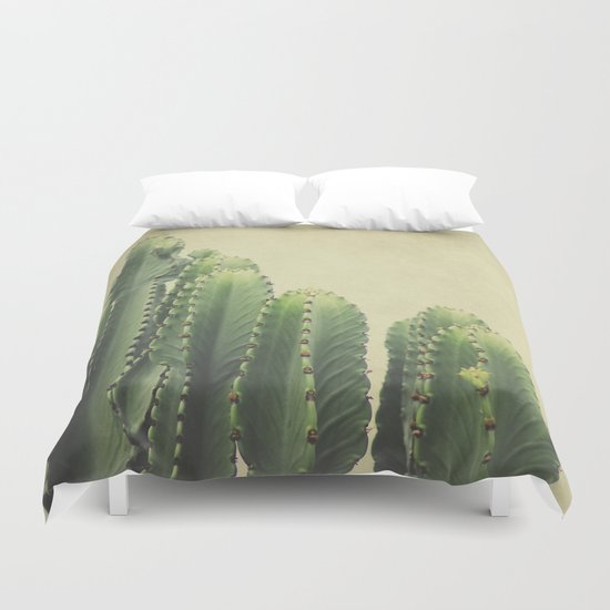 Green Cactus Duvet Cover